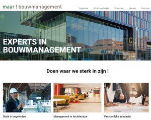Maar! bouwmanagement lancering nieuwe website